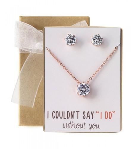 Bridesmaid Jewelry Cubic Zirconia Necklace