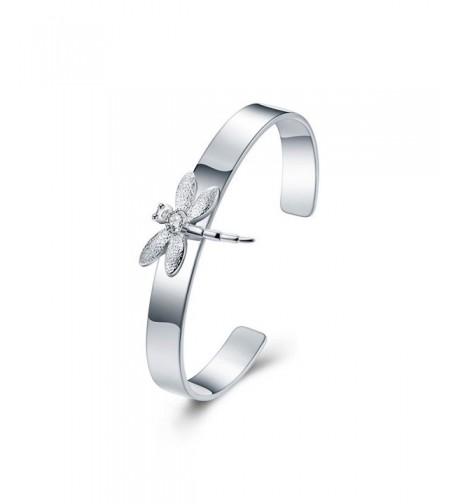 Ginalee Womens Dragonfly Cuff Bracelet