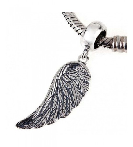 Charms Sterling Feather Christian Bracelet