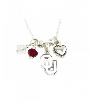 Oklahoma Sooners Austrian Crystal Necklace