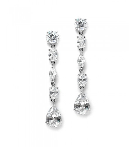 Mariell Gorgeous Mix Shape Zirconia Earrings
