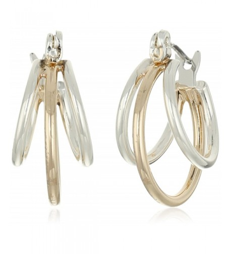 Napier Classics Two Tone Multi Hoop Earrings
