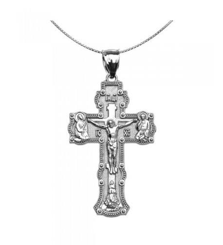 Elegant Russian Orthodox Necklace Sterling