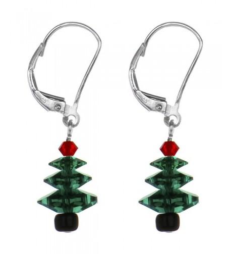 Christmas Earrings Created Swarovski Crystals