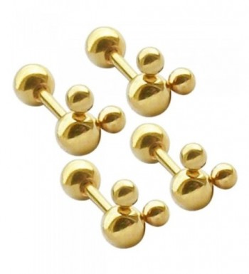 Thenice Plating Beads Screws Earrings