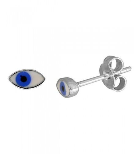 Small Sterling Silver Enamel Earrings