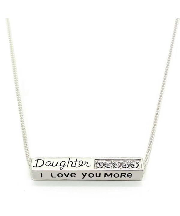 Love More Daughter Pendant Necklace