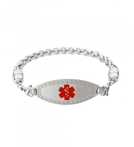 Divoti Engraved Bracelet Stainless Red 8 5