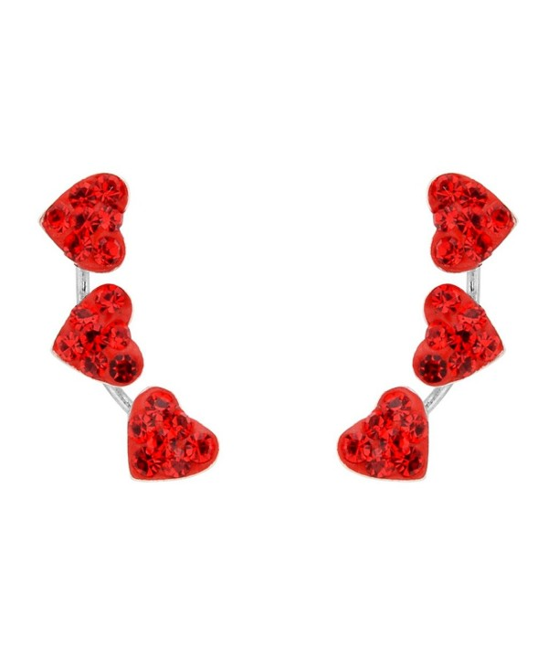 EleQueen Sterling Zirconia Crawlers Earrings