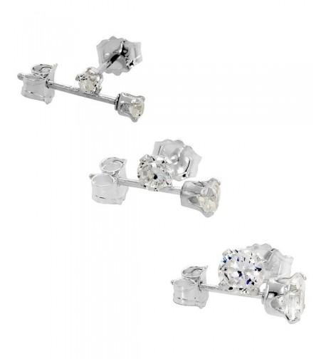 Sterling Silver Zirconia Earrings Cartilage
