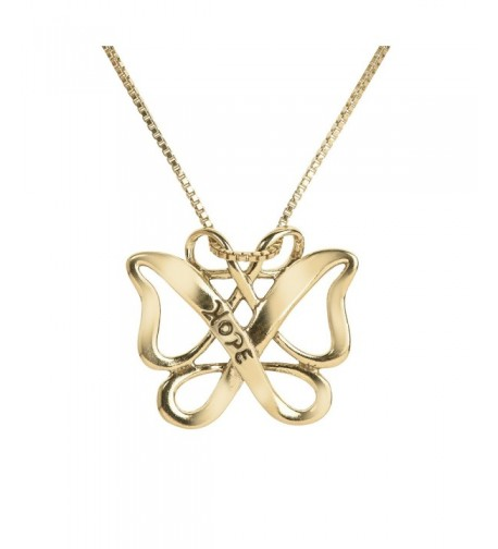 Yellow Sterling Infinite Butterfly Pendant