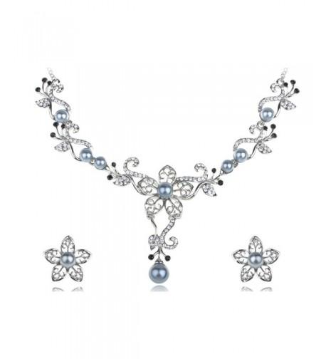 Alilang Swarovski Crystal Hibiscus Necklace