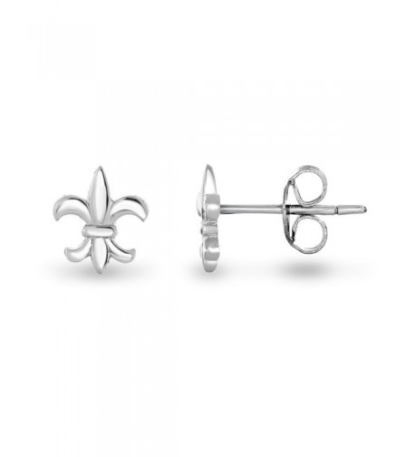 Rhodium Plated Sterling Silver Earrings