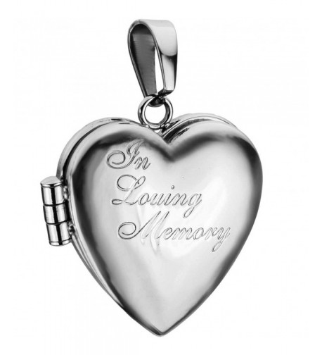 Engraved Loving Memory Stainless Polished