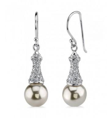 Sterling Silver Rhodium Fishhook Earrings