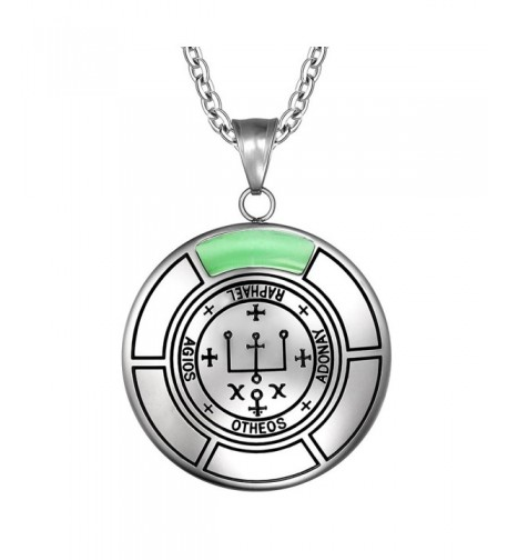 Archangel Raphael Medallion Simulated Necklace