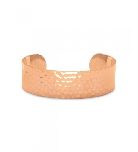 19mm Hammered Solid Copper Bracelet