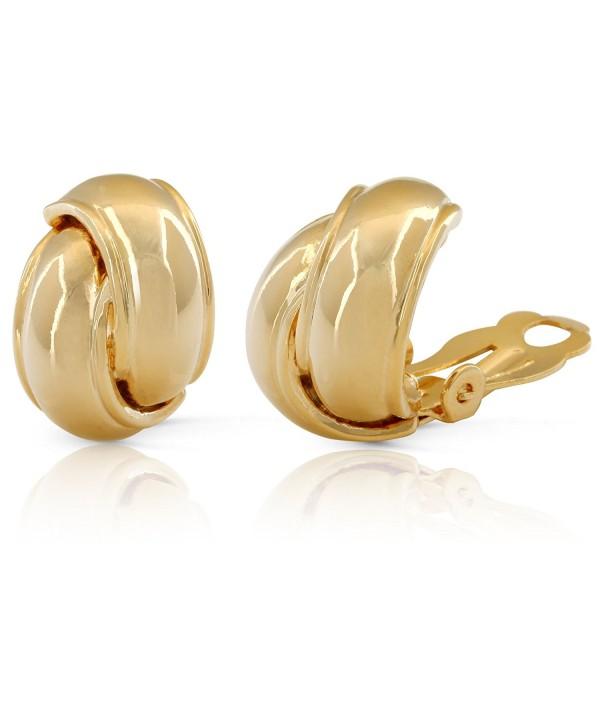 JanKuo Jewelry Shining Polished Earrings