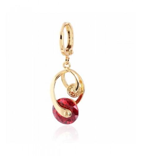 YAZILIND Charming Twisted Zirconia Earrings