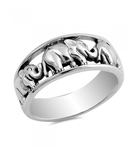 Elephant Animal Ring Sterling Silver