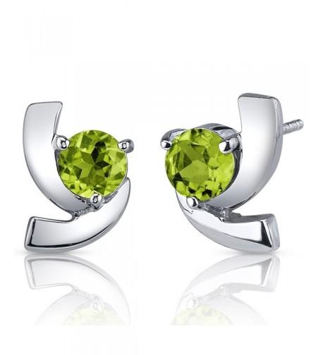 Illuminating Peridot Earrings Sterling Rhodium