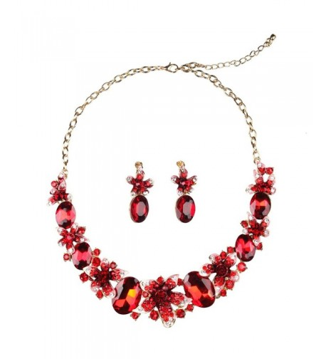 Hamer Handmade Crystal Statement Necklace