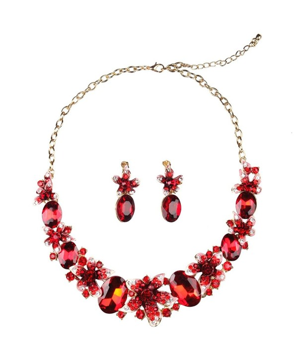 Hamer Handmade Crystal Statement Necklace