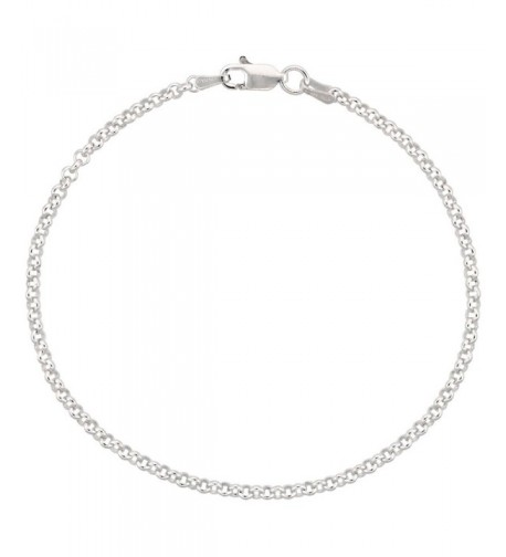Sterling Silver Italian Necklace Nickel