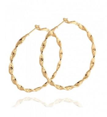 YAZILIND Elegant Plated Twisted Earrings