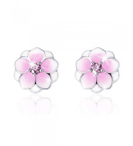 Sterling Magnolia Flowers Earring Valentine