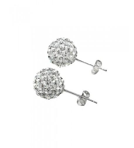 Surker Sterling Silver Crystal Earrings