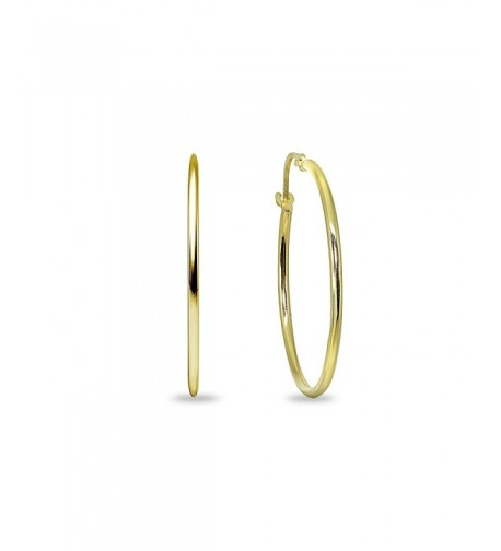Yellow Lightweight Round Tube Classic Earrings