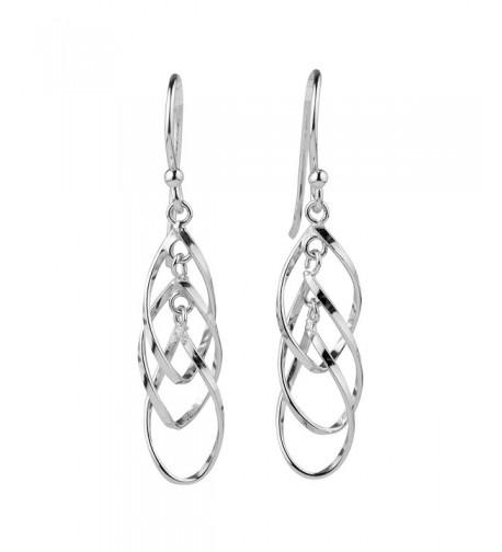 Sterling Silver Triple Dangle Earrings