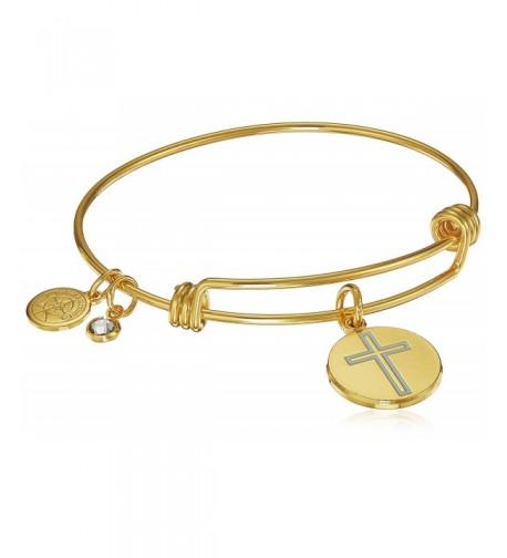 Halos Glories Cross Bangle Bracelet