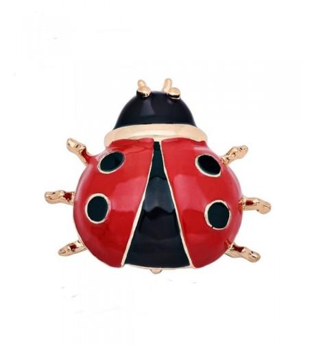 CHUYUN Lovely Enamel Ladybug Brooch