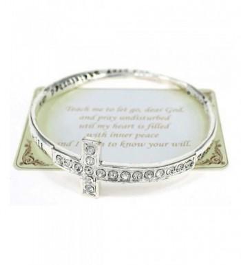 Inspirational Cross Crystal Bracelet Teach