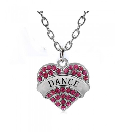 Dance Gifts Heart Pendant Necklace