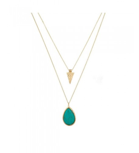 Lux Accessories Turquoise Teardrop Arrowhead
