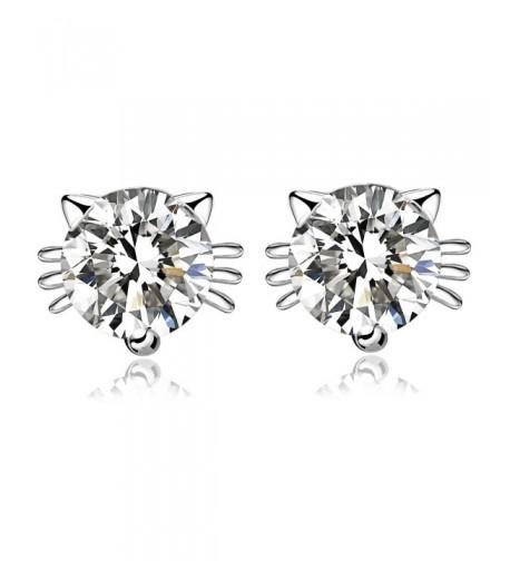 CISHOP Sterling Silver Zirconia Earrings