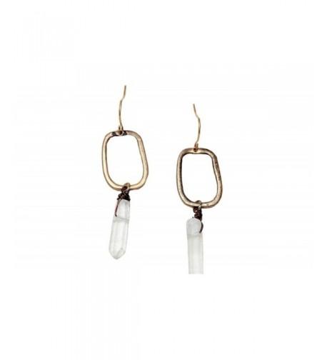 Bohemian Gold Earrings Crystal Women