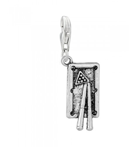 Billiard Table Pendant Bracelet Necklace
