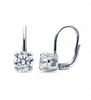 BERRICLE Sterling Zirconia Solitaire Leverback