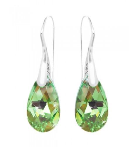 Sterling Teardrop Shepherd Swarovski Crystals