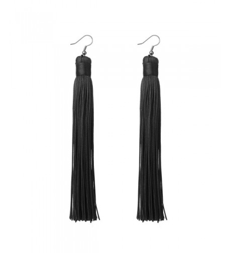 MELUOGE Womens Knotted Tassel Earrings
