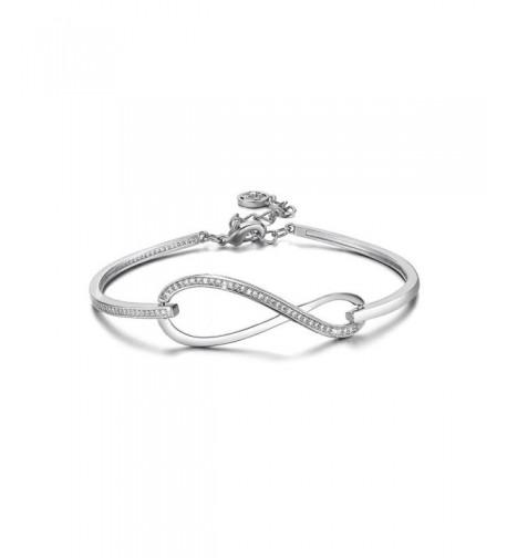 SPILOVE Crystal Infinity Adjustable Bracelets