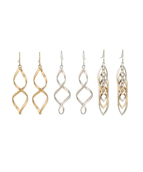 Lureme Silver Twisted Earrings 02004774