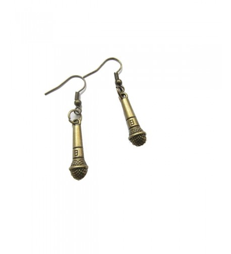 Earrings Microphone Miniblings Singing Topstar