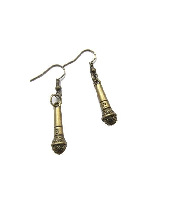 Earrings Microphone Miniblings Singing Topstar
