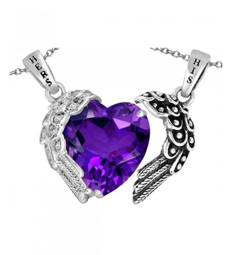 Star Pendant Necklace Simulated Amethyst