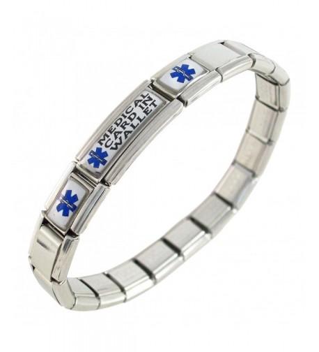Medical Wallet Alert Italian Bracelet